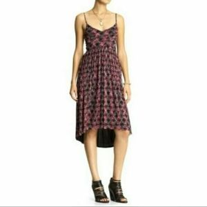 Free People Red and Black Floral Dress Size S